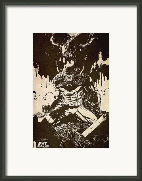 Batman Framed Print By Fht Designs