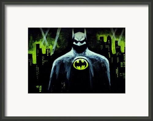 Batman Framed Print By Salman Ravish