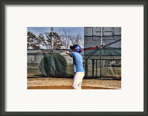 Batter Up Framed Print By Carolyn Ricks