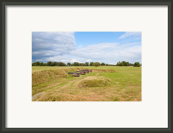 Battle Of Yorktown Battlefield Framed Print By John Bailey