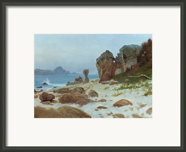 Bay Of Monterey Framed Print By Albert Bierstadt