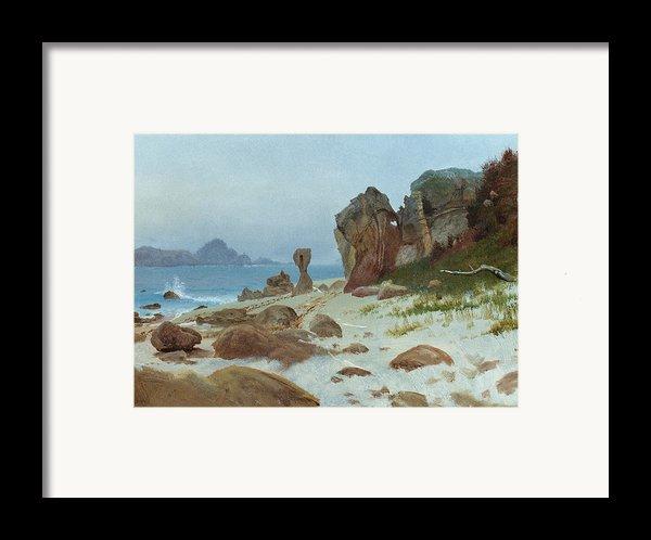 Bay Of Monterey Framed Print By Albert Bierstadt