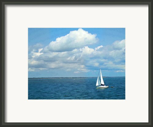 Bay Sailing Framed Print By Barbara Mcdevitt