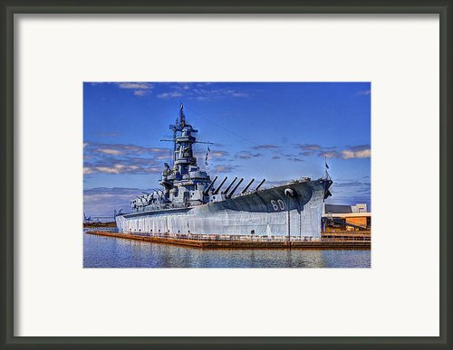Bb-60 Uss Alabama Framed Print By Barry Jones
