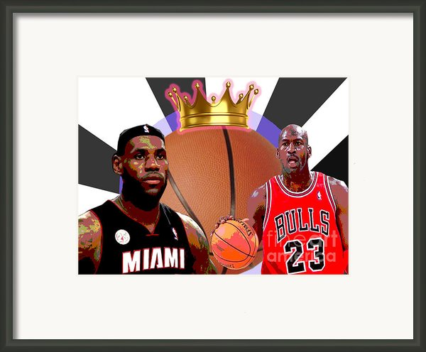 Bball Kings Framed Print By Michael Chatman