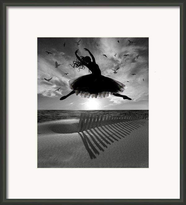 Beach Ballerina Framed Print By Nina Bradica