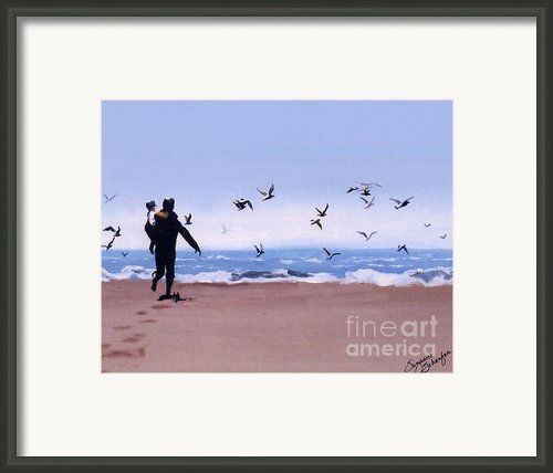 Beach Buddies Framed Print By Suzanne Schaefer