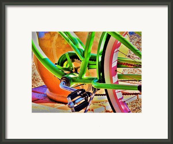 Beach Cruiser Framed Print By Helen Carson