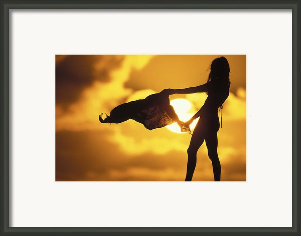 Beach Girl Framed Print By Sean Davey