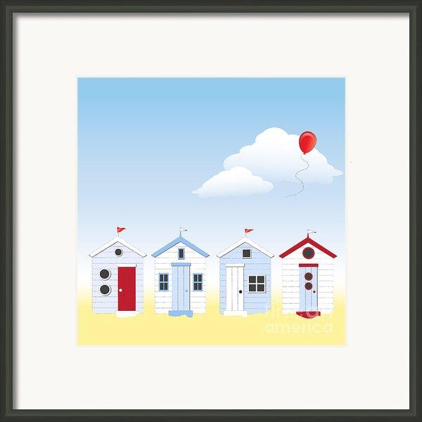 Beach Huts Framed Print By Jane Rix