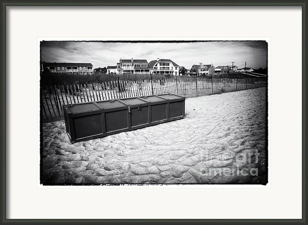 Beach Locker Framed Print By John Rizzuto