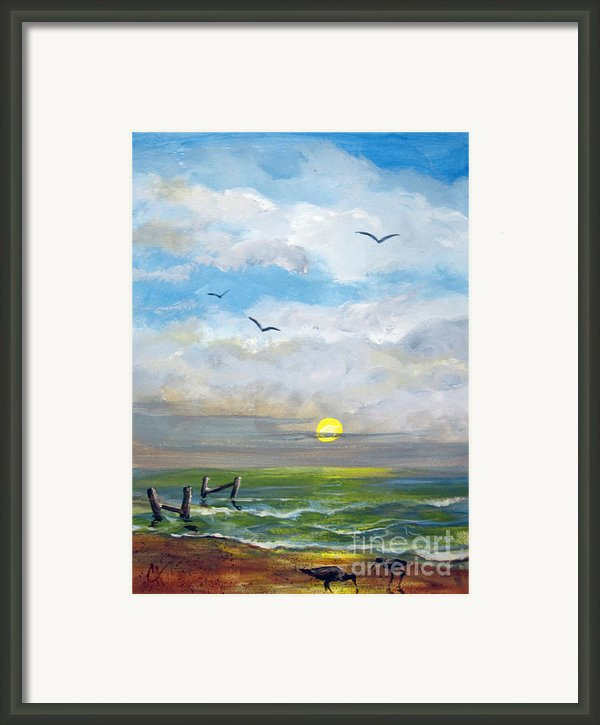 Beach Morn Framed Print By Carol Hart