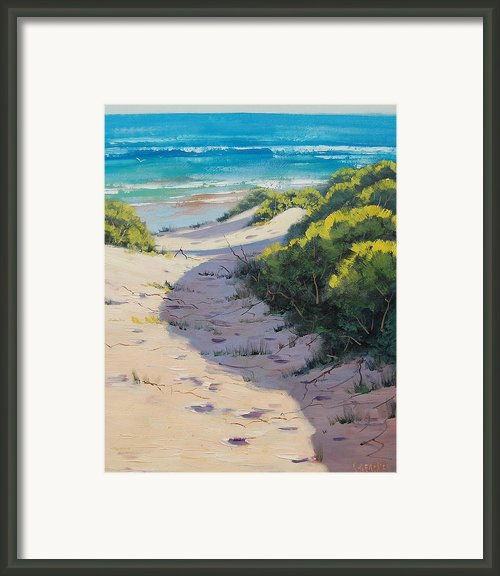 Beach Painting Framed Print By Graham Gercken