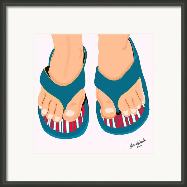 Beach Sandals Framed Print By Author And Photographer Laura Wrede