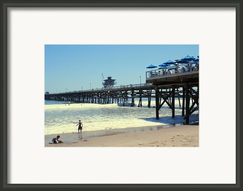 Beach View With Pier 1 Framed Print By Ben And Raisa Gertsberg