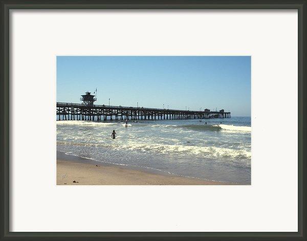 Beach View With Pier 2 Framed Print By Ben And Raisa Gertsberg