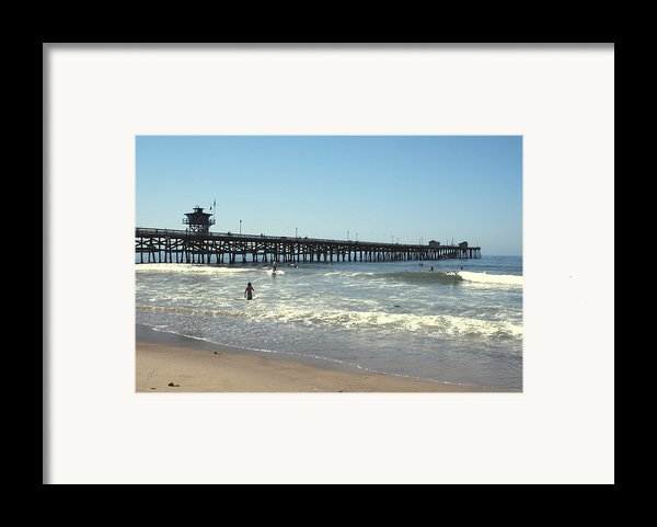 Beach View With Pier 2 Framed Print By Ben And Raisa Gertsberg
