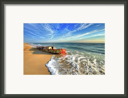 Beached Boat Morning - Outer Banks Framed Print By Dan Carmichael