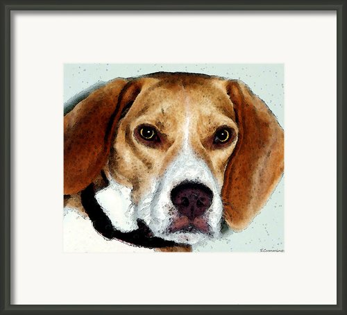 Beagle Art - Eagle Boy Framed Print By Sharon Cummings
