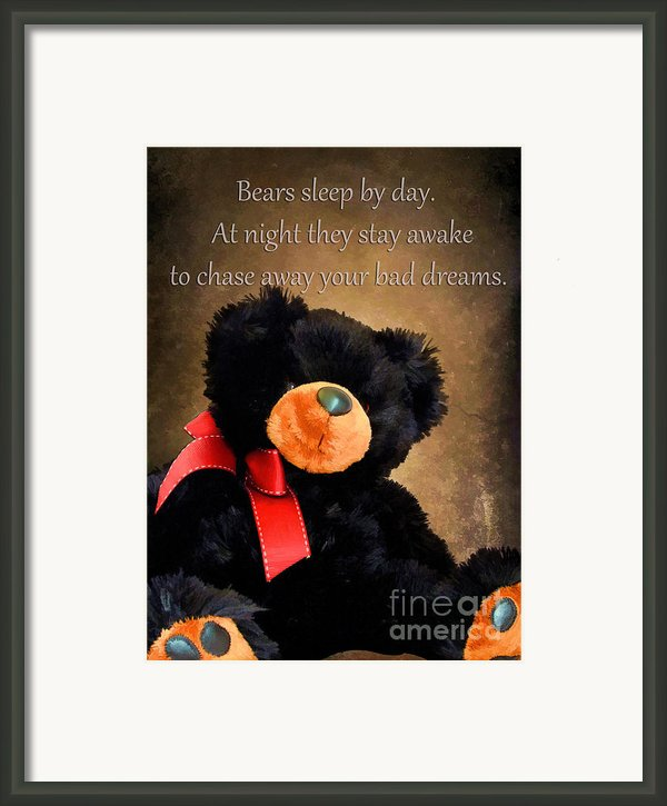 Bears Sleep By Day Framed Print By Darren Fisher