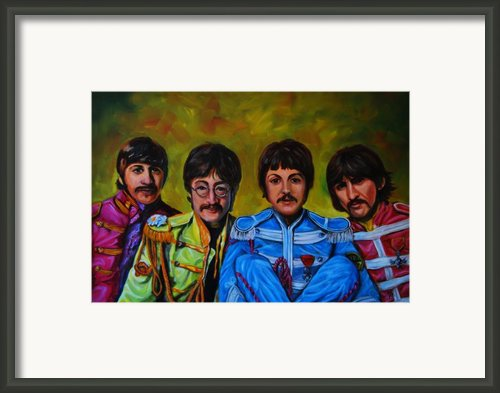 Beatles  Framed Print By Nancy Bradley