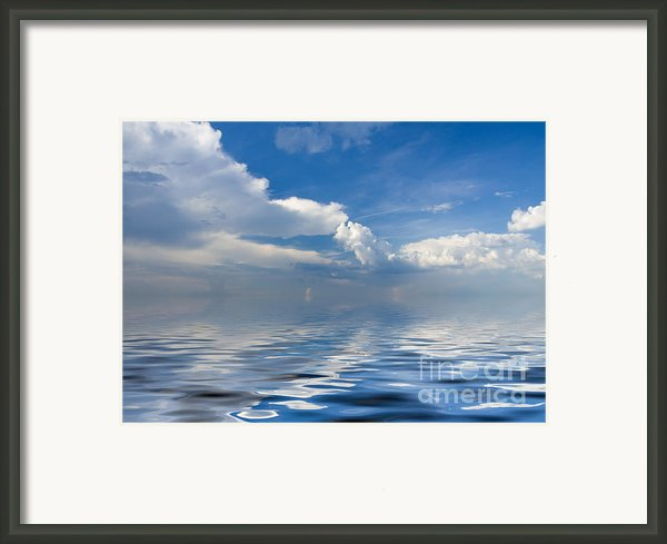 Beauty Clouds Over Sea Framed Print By Boon Mee