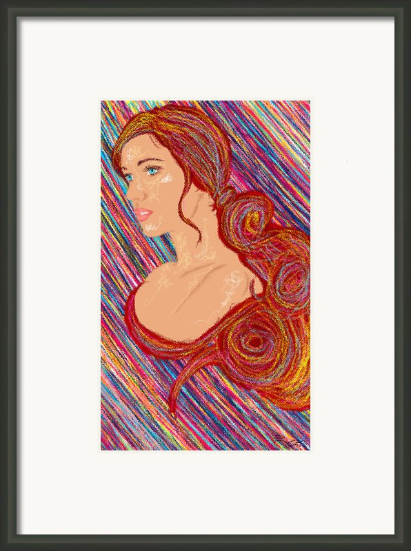 Beauty Of Hair Abstract Framed Print By Kenal Louis