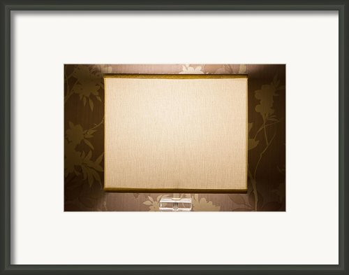 Bedside Lamp In A Cosy Bedroom Framed Print By Fizzy Image
