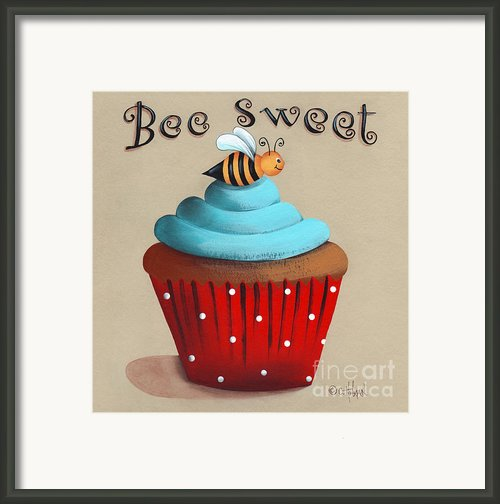 Bee Sweet Cupcake Framed Print By Catherine Holman