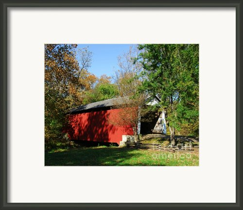 Beeson Covered Bridge 1 Framed Print By Mel Steinhauer