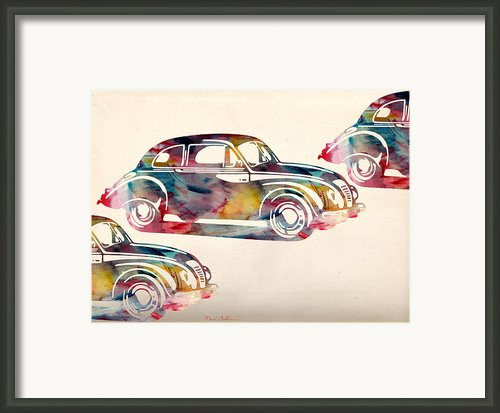 Beetle Car Framed Print By Mark Ashkenazi