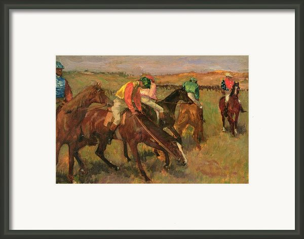Before The Races Framed Print By Edgar Degas
