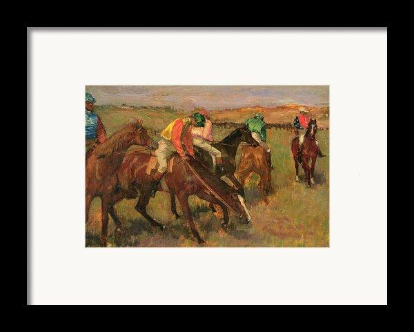 Before The Races Framed Print By Edgar Degas