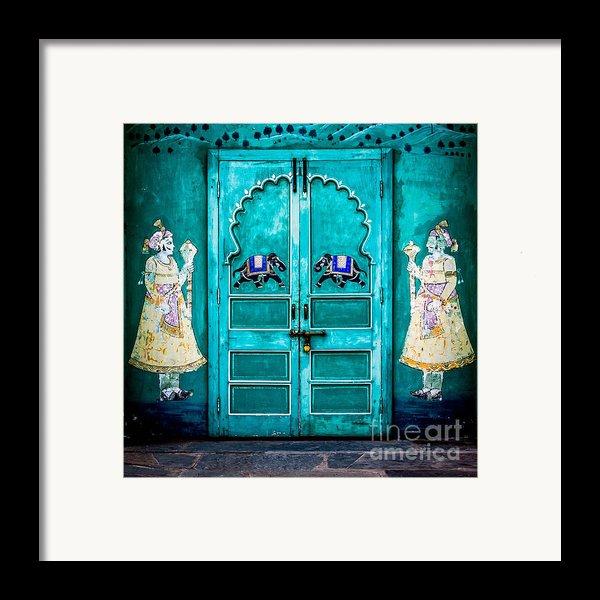 Behind The Green Door Framed Print By Catherine Arnas