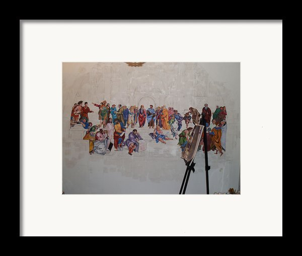 Behind The Scenes Mural 7 Framed Print By Becky Kim