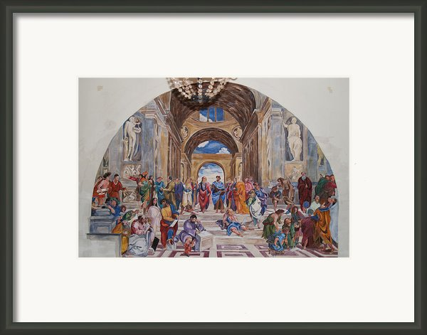 Behind The Scenes Mural 9 Framed Print By Becky Kim