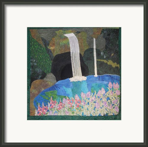 Behind The Waterfall Framed Print By Aisha Lumumba