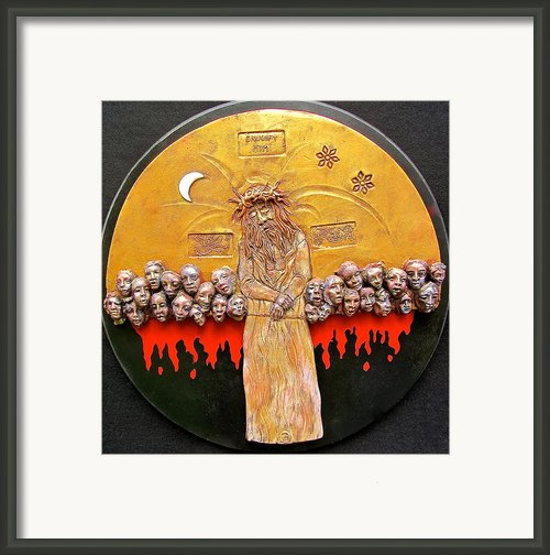Behold The Man Framed Print By Gary Wilson