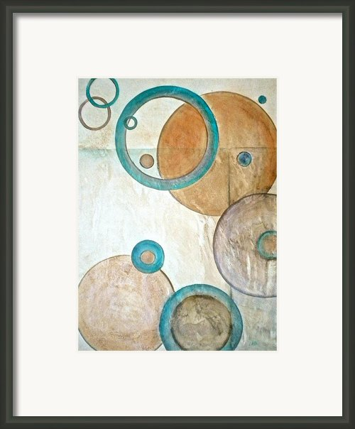 Belief In Circles Framed Print By Debi Pople