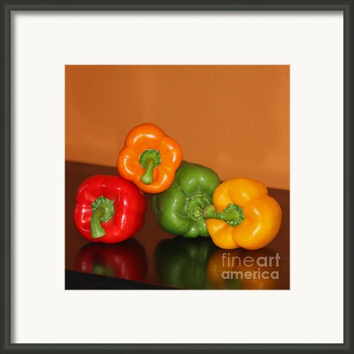 Bell Pepper Still Life Framed Print By Art Block Collections