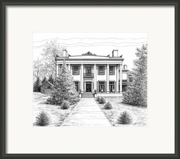 Belle Meade Plantation Framed Print By Janet King