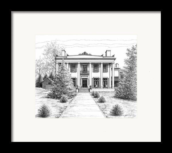 Belle Meade Plantation Framed Print By Janet King