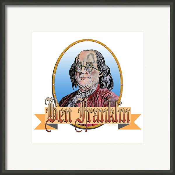 Ben Franklin Framed Print By John Keaton