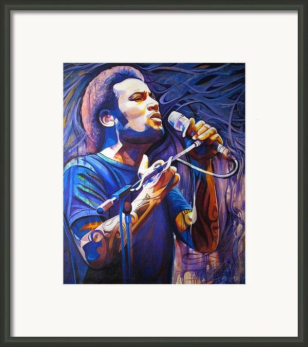 Ben Harper And Mic Framed Print By Joshua Morton