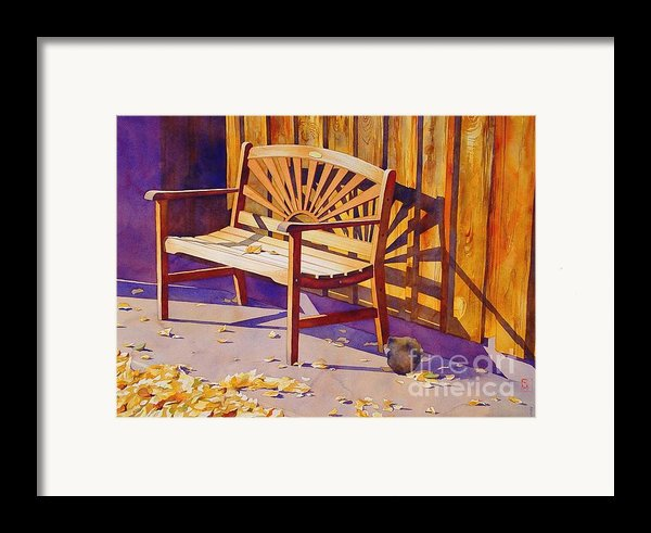 Bench At Sharlot Hall Framed Print By Robert Hooper