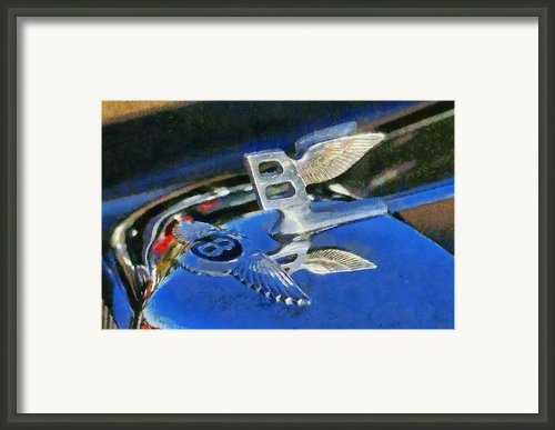 Bentley S1 1956 Badge Framed Print By George Atsametakis