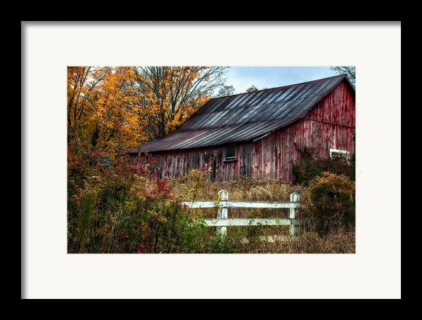 Berkshire Autumn - Old Barn Series   Framed Print By Thomas Schoeller