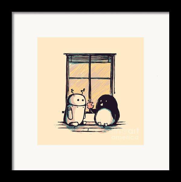 Best Friends Framed Print By Budi Kwan