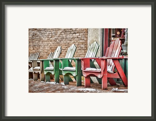 Best Seats In Town Framed Print By Heather Applegate