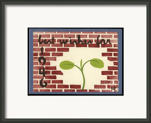 Best Wishes For 1946 Framed Print By Jan Faul
